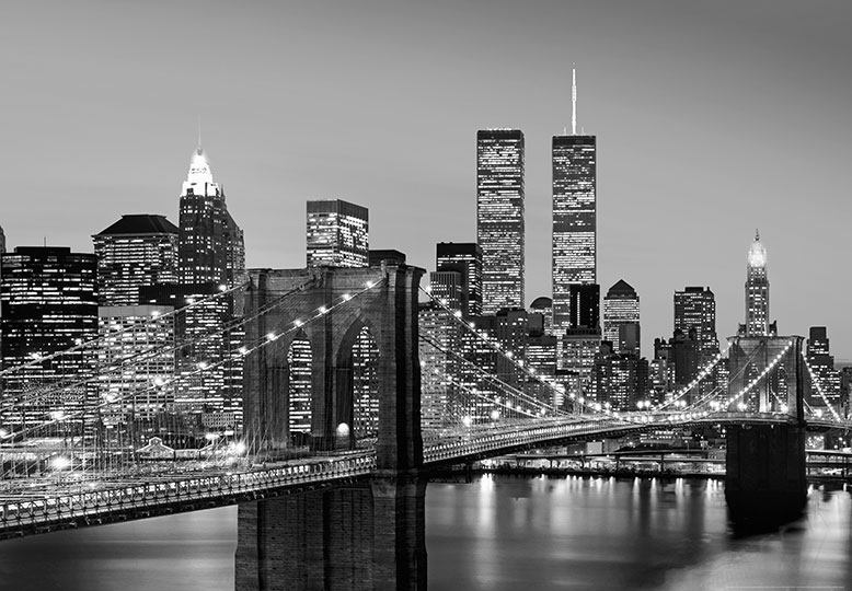 New york wall mural photo wallpaper 366x254cm cityscape for Cityscape wall mural