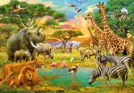 00154 African Animals Wall Mural 8-part