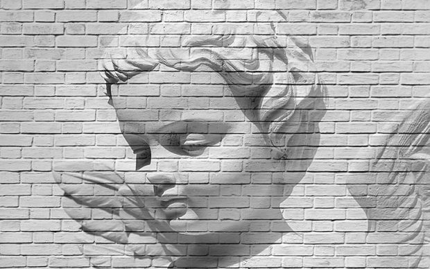 00160 Angel Brick Wall 8-part Wall Mural | Fototapete