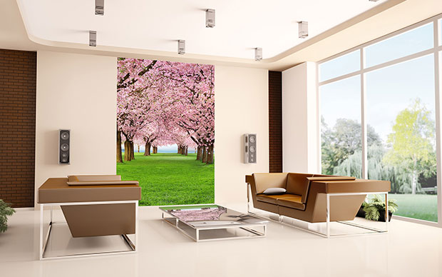 Cherry Trees 4-part Wall Mural