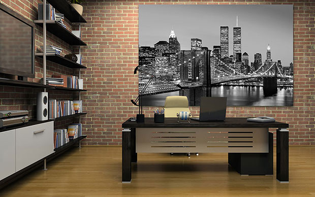 Manhattan Skyline at Night Giant Art® XXL-Poster