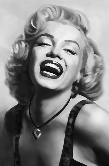 00667 Marilyn Monroe Wizard Genius World Of Wall Murals And