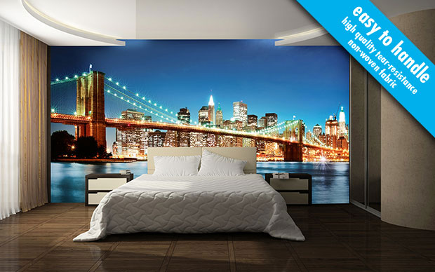 New York East River non-woven Wall Mural