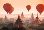 00965 Ballons over Bagan 8-part Non-Woven Mural | Vlies Fototapete