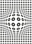 5006-2V-1 DOTS BLACK AND WHITE