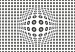5006-4P-1 DOTS BLACK AND WHITE