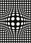 5007-2P-1 DOTS BLACK AND WHITE INVERTED