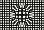 5007-4P-1 DOTS BLACK AND WHITE INVERTED