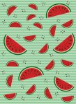 5017-2P-1 MELONS GREEN