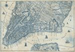 5019-4V-1 OLD VINTAGE CITY MAP NEW YORK