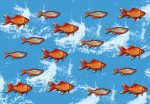 5026-4V-1 GOLD FISHES VINTAGE