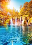 5030-2V-1 Waterfall and Lake in Croatia