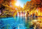 5030-4V-1 Waterfall and Lake in Croatia