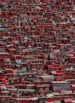 5130-2V-1 Red Houses China