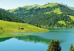 5186-4V-1 Swiss Mountain Lake Launensee Gstaad