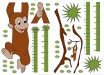 74101 Measuring Tape: Monkey Wall Sticker