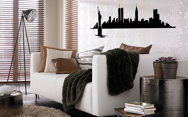 New York Skyline Wall Sticker Part 78