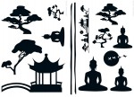 74103 Asian Feeling Wall Sticker
