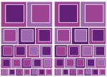 74104 Purple Squares Wall Sticker