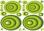 74105 Green Ovals Wall Sticker