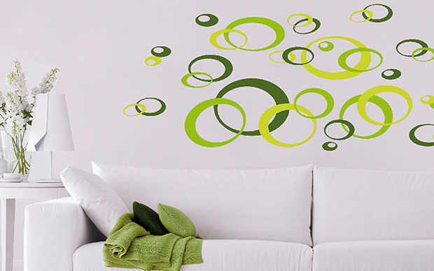 Green Ovals Wall Sticker