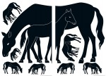 74107 Mare and Foal Wall Sticker
