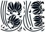 74110 Black Flowers Wall Sticker