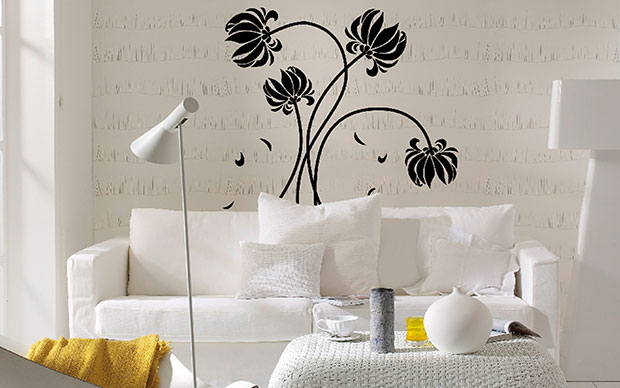Black Flowers Wall Stickers