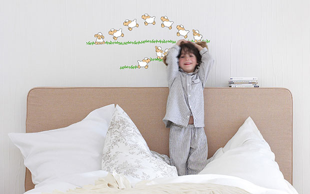 Jumping Sheeps Wall Sticker