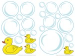 74301 Bubble Ducks Wall Sticker
