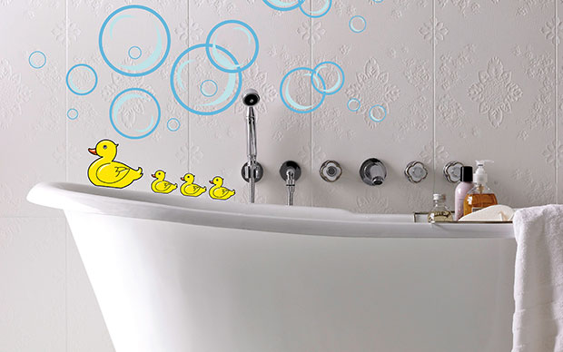 Bubble Ducks Wall Sticker