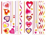 74307 Hearts on Strings Wall Sticker