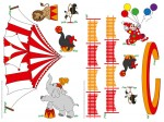 74308 Circus, Circus Wall Sticker