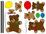 74309 Teddy Bears Wall Sticker